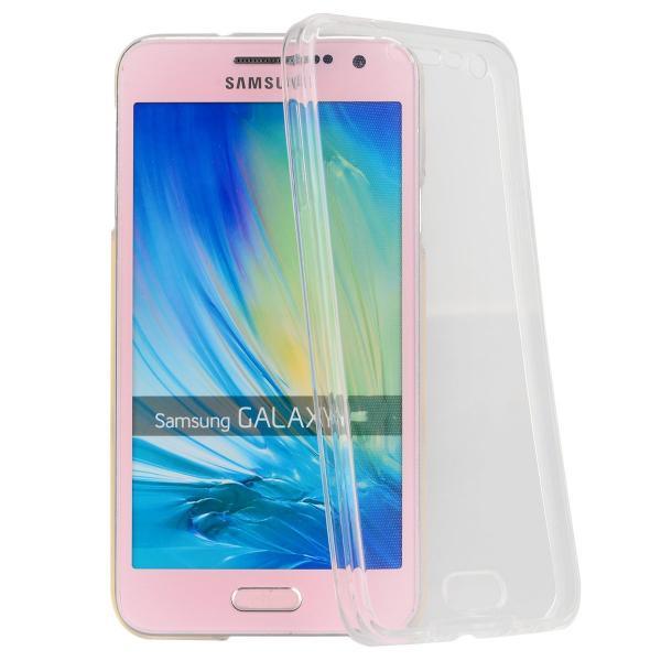 Husa Full TPU 360 (fata + spate) pentru Samsung Galaxy A7 (2015), Transparent 0