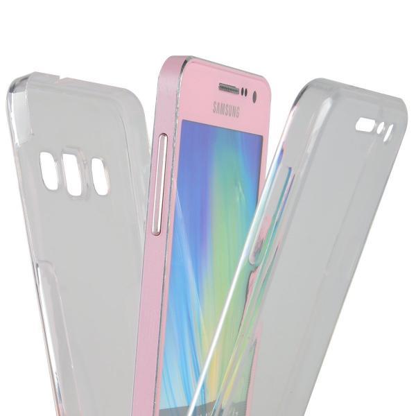 Husa Full TPU 360 (fata + spate) pentru Samsung Galaxy A7 (2015), Transparent 1