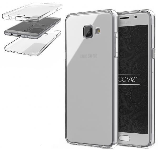 Husa Full TPU 360 (fata + spate) pentru Samsung Galaxy A7 (2016), Transparent 1