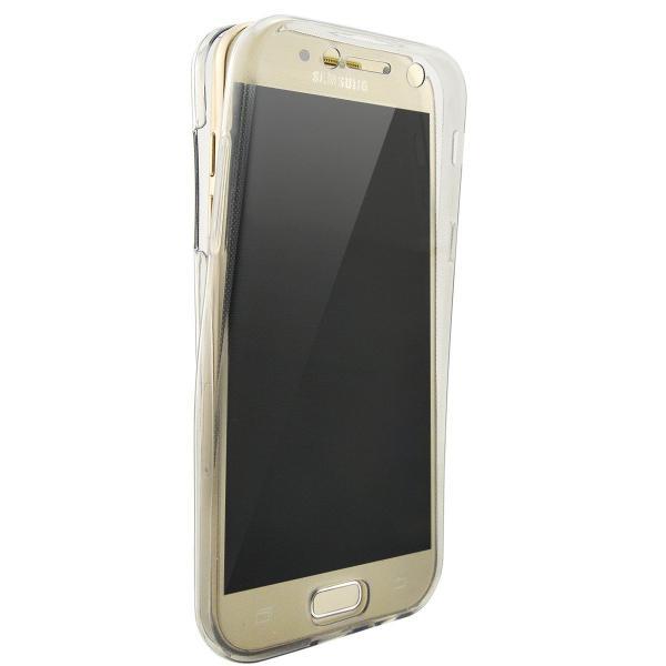 Husa Full TPU 360 (fata + spate) pentru Samsung Galaxy A7 (2017), Gri transparent 0