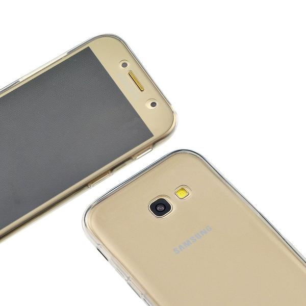 Husa Full TPU 360 (fata + spate) pentru Samsung Galaxy A7 (2017), Gri transparent 1