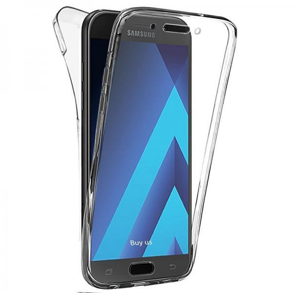 Husa Full TPU 360 (fata + spate) pentru Samsung Galaxy A7 (2017), Transparent 0