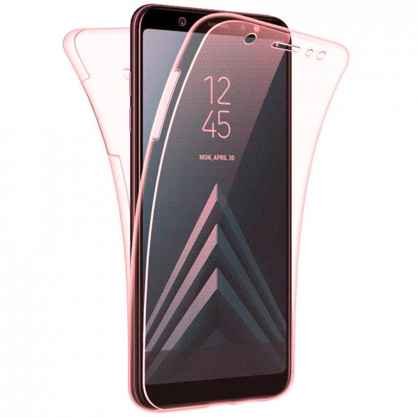 Husa Full TPU 360 fata + spate pentru Samsung Galaxy J4 Plus (2018), Rose Gold Transparent 0