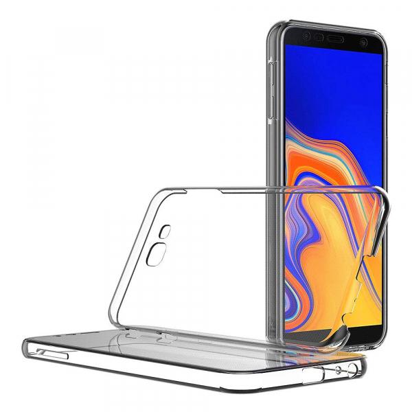 Husa Full TPU 360 fata + spate pentru Samsung Galaxy J4 Plus (2018), Transparent 1