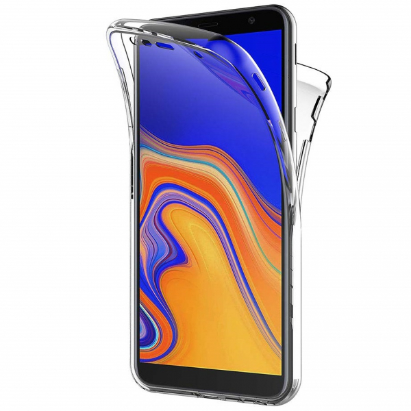 Husa Full TPU 360 fata + spate pentru Samsung Galaxy J4 Plus (2018), Transparent 0