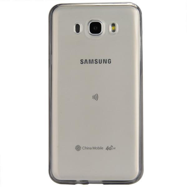 Husa Full TPU 360 (fata + spate) pentru Samsung Galaxy J5 (2016), Gri transparent 2
