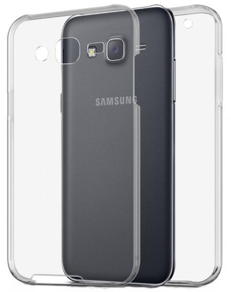Husa Full TPU 360 (fata + spate) pentru Samsung Galaxy J5, Gri Transparent 0