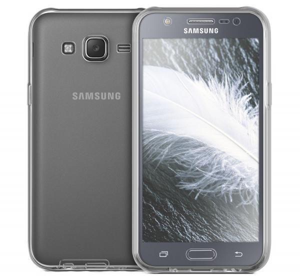 Husa Full TPU 360 (fata + spate) pentru Samsung Galaxy J5, Gri Transparent 2