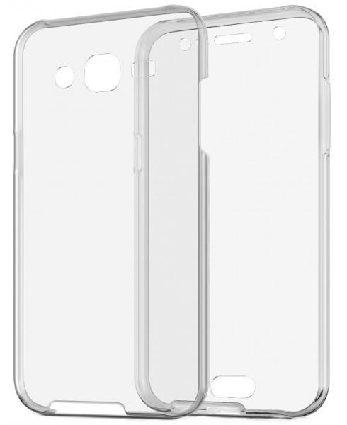 Husa Full TPU 360 (fata + spate) pentru Samsung Galaxy J5, Gri Transparent 1