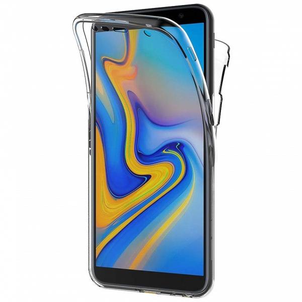 Husa Full TPU 360 fata + spate pentru Samsung Galaxy J6 Plus (2018), Transparent 0