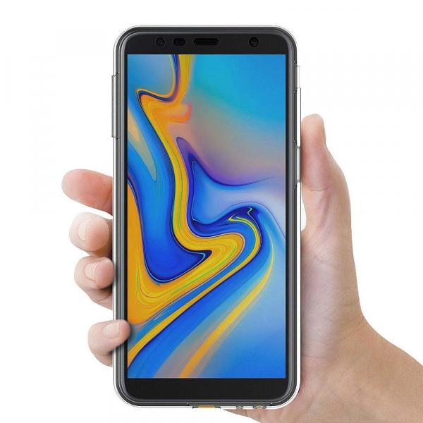 Husa Full TPU 360 fata + spate pentru Samsung Galaxy J6 Plus (2018), Transparent 2