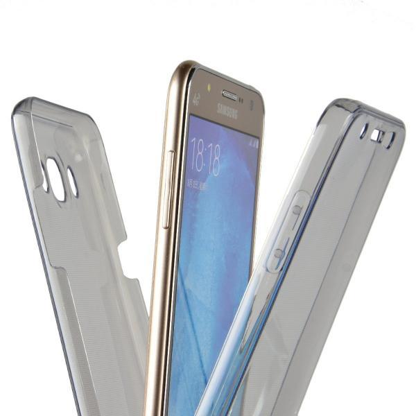 Husa Full TPU 360 (fata + spate) pentru Samsung Galaxy J7 (2016), Gri Transparent 1