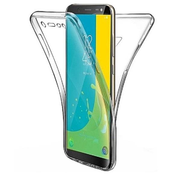 Husa Full TPU 360 fata + spate pentru Samsung Galaxy J8 (2018), Transparent 0