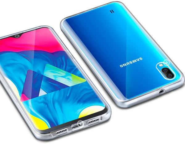 Husa Full TPU 360 fata + spate pentru Samsung Galaxy M10, Transparent 3