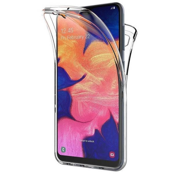 Husa Full TPU 360 fata + spate pentru Samsung Galaxy M10, Transparent 0
