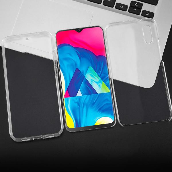 Husa Full TPU 360 fata + spate pentru Samsung Galaxy M10, Transparent 2