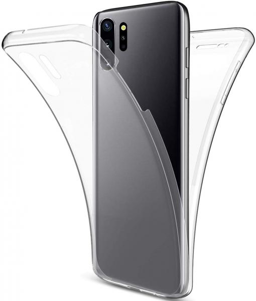 Husa Full TPU 360 fata + spate pentru Samsung Galaxy Note 10 Plus, Transparent [1]