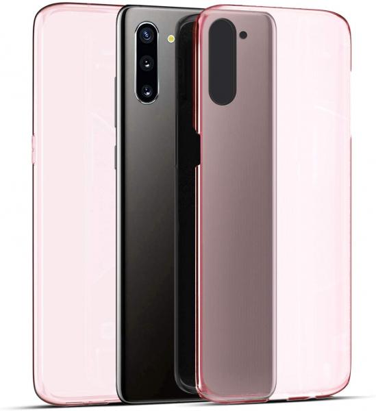 Husa Full TPU 360 fata + spate pentru Samsung Galaxy Note 10, Rose Gold Transparent [1]