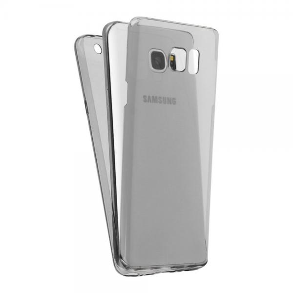 Husa Full TPU 360 (fata + spate) pentru Samsung Galaxy Note 5, Gri Transparent 0