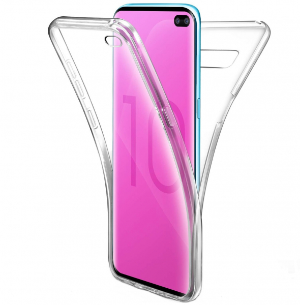 Husa Full TPU 360 fata + spate pentru Samsung Galaxy S10+, Transparent 0