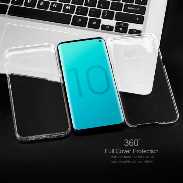 Husa Full TPU 360 fata + spate pentru Samsung Galaxy S10e, Transparent 1
