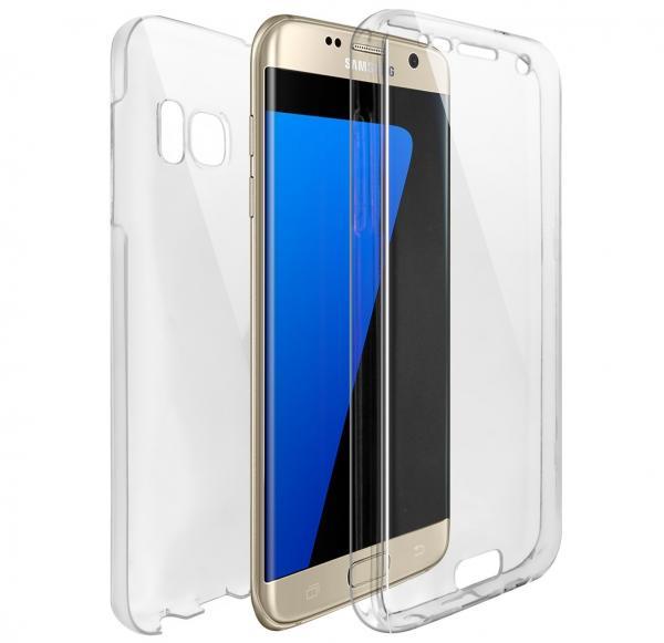 Husa Full TPU 360 (fata + spate) pentru Samsung Galaxy S6 Edge, Transparent 0