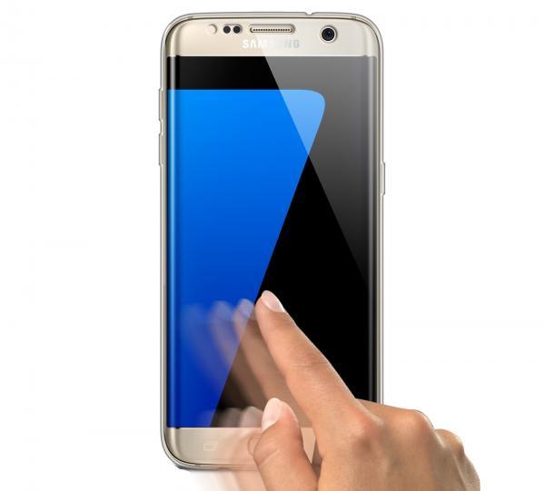 Husa Full TPU 360 (fata + spate) pentru Samsung Galaxy S6 Edge, Transparent 2