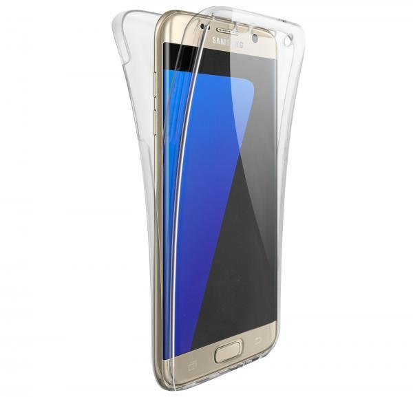 Husa Full TPU 360 (fata + spate) pentru Samsung Galaxy S6 Edge, Transparent 1