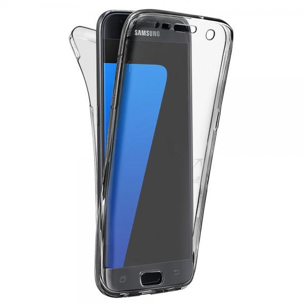 Husa Full TPU 360 (fata + spate) pentru Samsung Galaxy S6, Gri Transparent 0