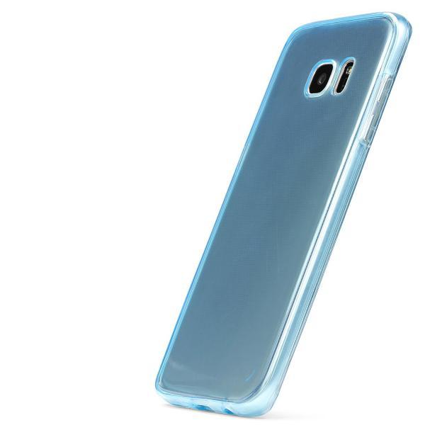 Husa Full TPU 360 (fata + spate) pentru Samsung Galaxy S7 Edge, Albastru transparent 2
