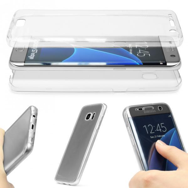Husa Full TPU 360 (fata + spate) pentru Samsung Galaxy S7 Edge, Transparent 1