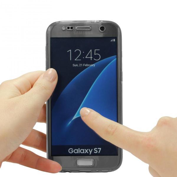 Husa Full TPU 360 (fata + spate) pentru Samsung Galaxy S7, Gri transparent 2