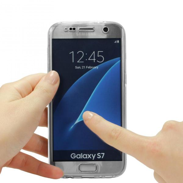 Husa Full TPU 360 (fata + spate) pentru Samsung Galaxy S7, Transparent 2