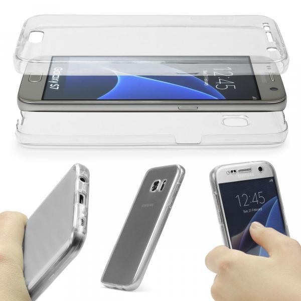 Husa Full TPU 360 (fata + spate) pentru Samsung Galaxy S7, Transparent 1