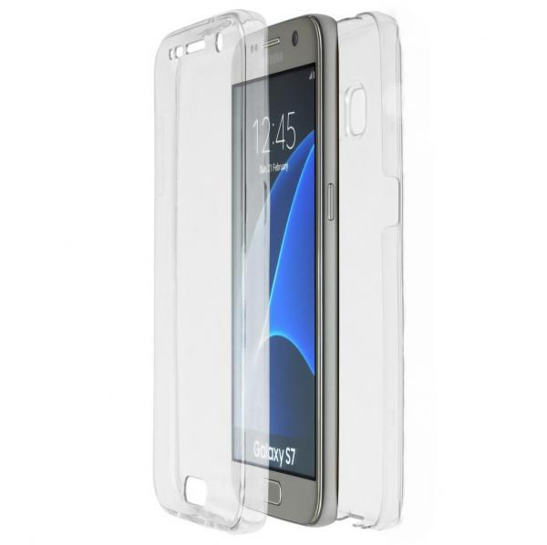 Husa Full TPU 360 (fata + spate) pentru Samsung Galaxy S7, Transparent