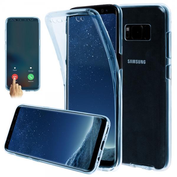 Husa Full TPU 360 (fata + spate) pentru Samsung Galaxy S8, Albastru transparent 0