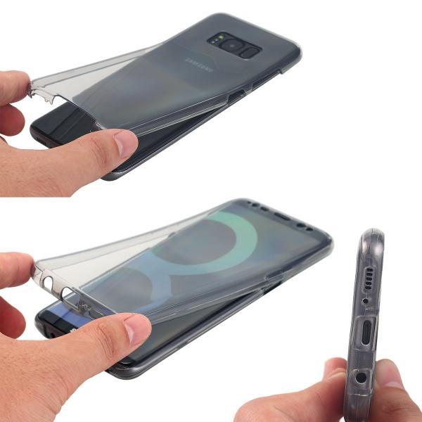 Husa Full TPU 360 (fata + spate) pentru Samsung Galaxy S8, Gri Transparent 1
