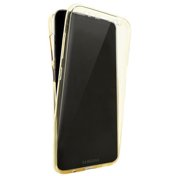 Husa Full TPU 360 (fata + spate) pentru Samsung Galaxy S8 Plus, Gold Transparent 2