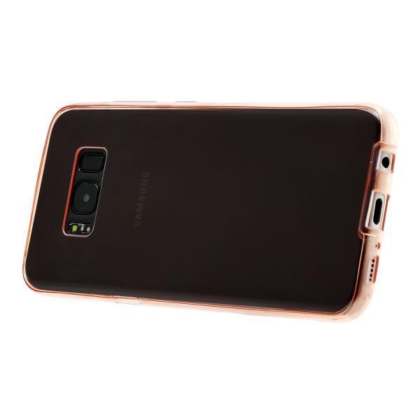Husa Full TPU 360 (fata + spate) pentru Samsung Galaxy S8 Plus, Rose Gold Transparent 2