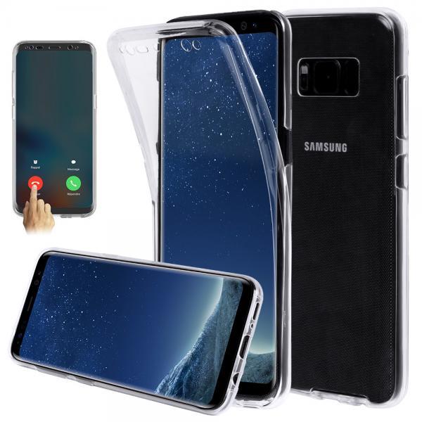 Husa Full TPU 360 (fata + spate) pentru Samsung Galaxy S8, Transparent 0
