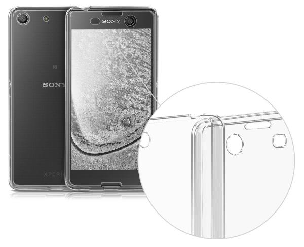 Husa Full TPU 360 (fata + spate) pentru Sony Xperia M5, Gri transparent 1