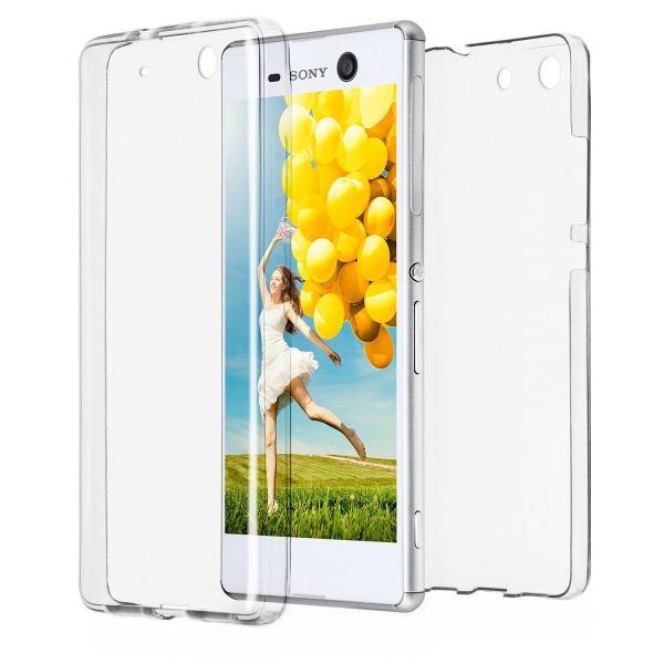 Husa Full TPU 360 (fata + spate) pentru Sony Xperia M5, Transparent 0