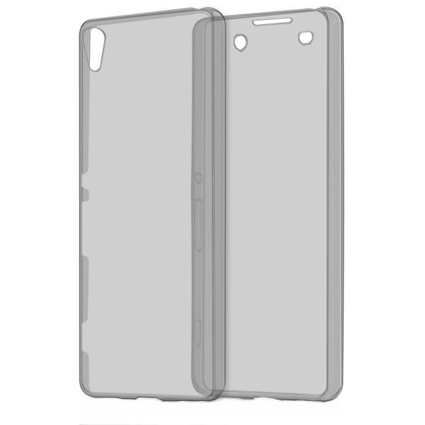 Husa Full TPU 360 (fata + spate) pentru Sony Xperia X, Gri transparent 1