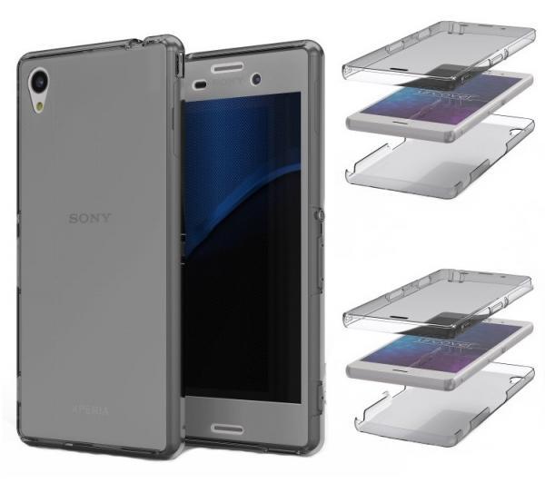 Husa Full TPU 360 (fata + spate) pentru Sony Xperia Z3, Gri transparent 1