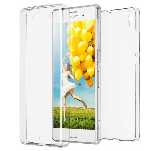 Husa Full TPU 360 (fata + spate) pentru Sony Xperia Z3, Transparent 0