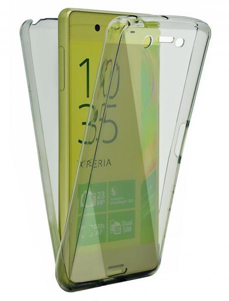Husa Full TPU 360 (fata + spate) pentru Sony Xperia Z5, Gri transparent 0