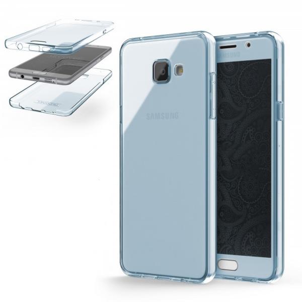 Husa Full TPU 360 (fata + spate) Samsung Galaxy A5 (2016), Albastru Transparent 1