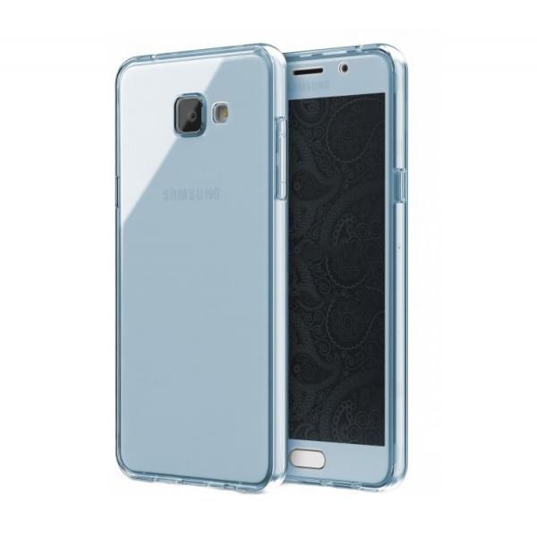 Husa Full TPU 360 (fata + spate) Samsung Galaxy A5 (2016), Albastru Transparent 0