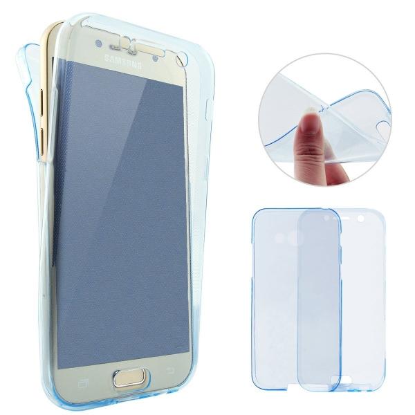 Husa Full TPU 360 (fata + spate) Samsung Galaxy A5 (2017), Albastru Transparent 1