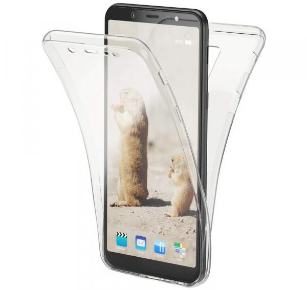 Husa Full TPU 360 fata + spate Samsung Galaxy A6+ (2018), Transparent 0